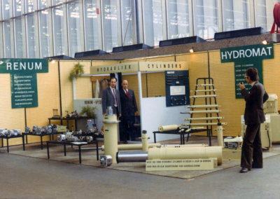 Booth in the 70s with Van der Velden Brothers