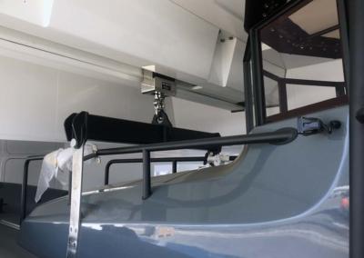 M/Y Planet Nine sliding beam garage crane