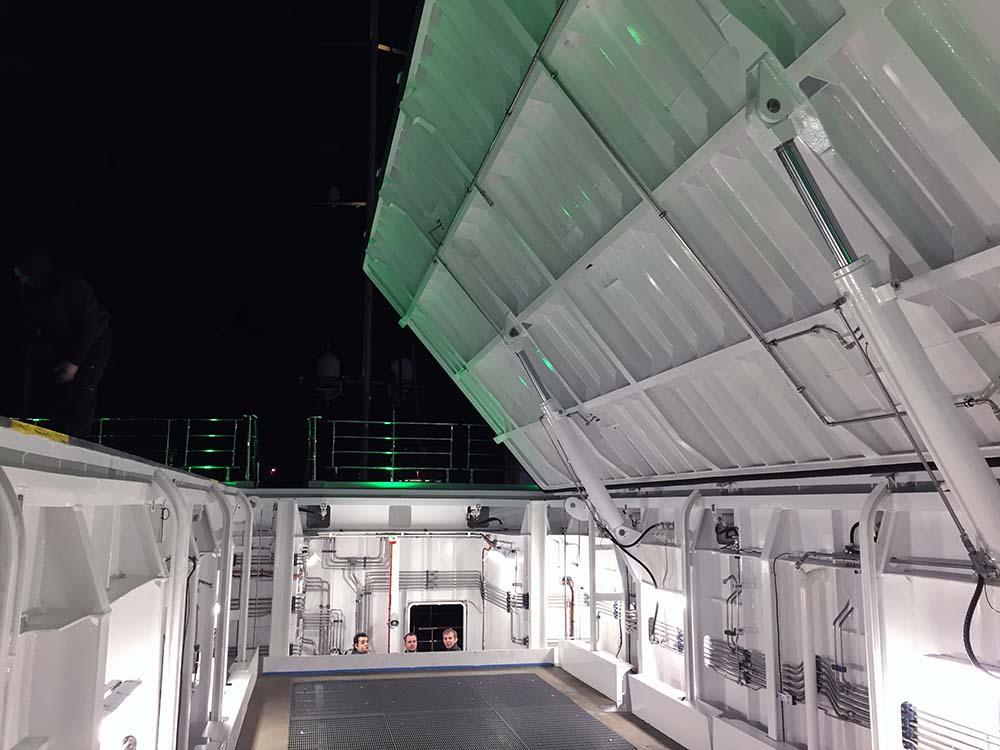 M/Y Planet Nine helicopter lift door hatches